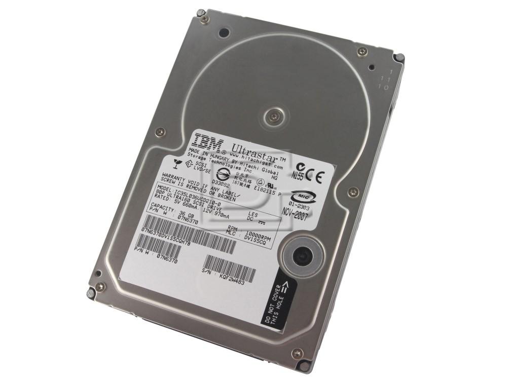 Hitachi 07N6370 IC35L036UCD210 SCSI Hard Drives image 1