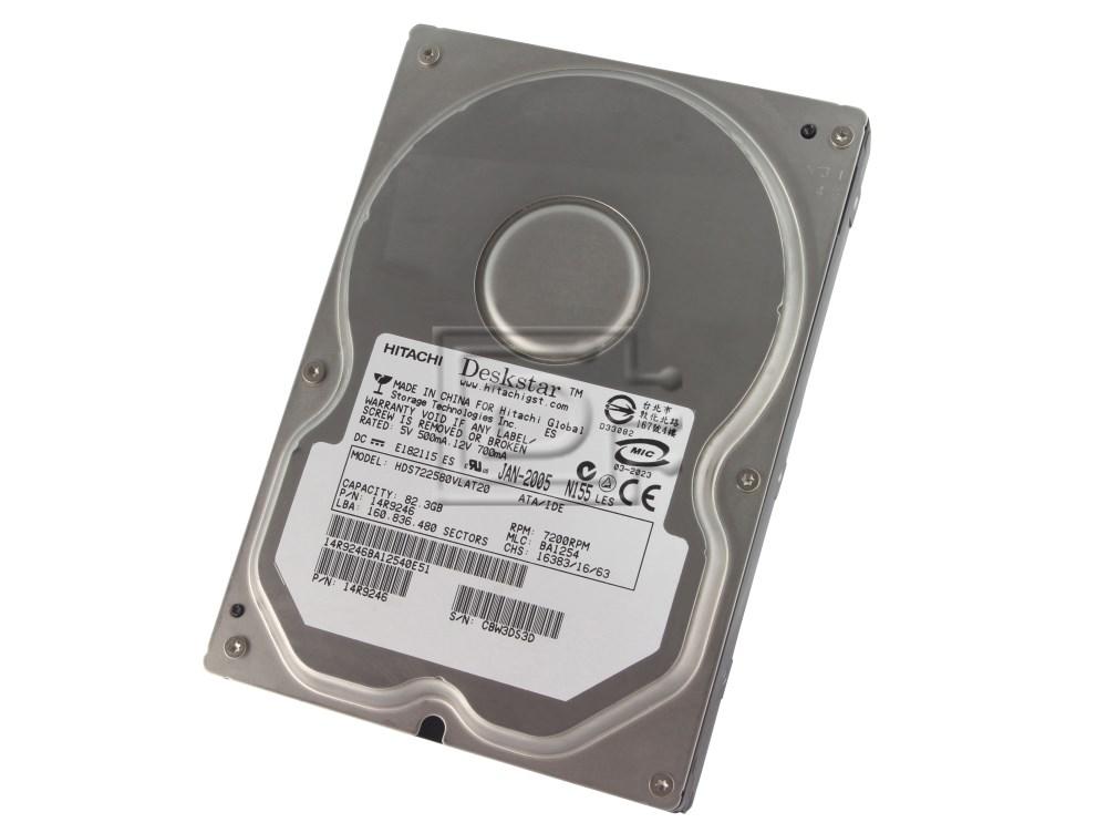 Hitachi 08K0462 HDS722580VLAT20 IDE ATA/100 Hard Drive image 1