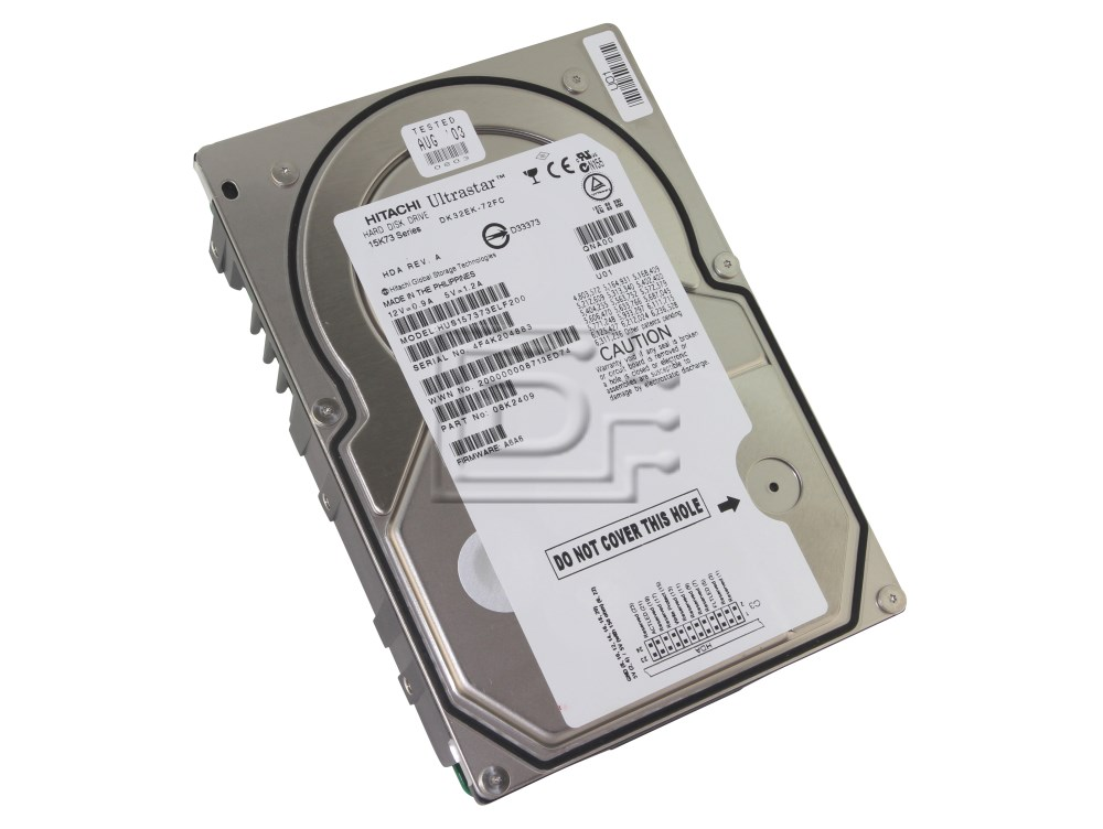 Hitachi 08K2409 HUS157373ELF200 Fibre Channel Hard Drive image 1