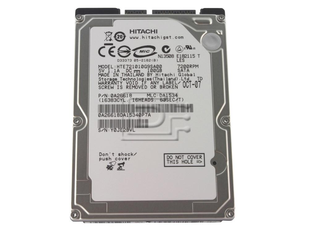 Hitachi 0A26618 HTE721010G9SA00 Laptop SATA Hard Drive image 1