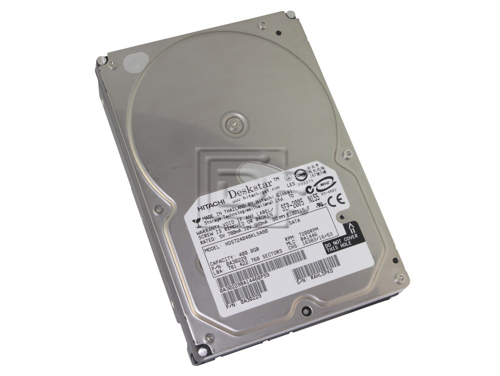 Hitachi 0A30229 HDS724040KLSA80 SATA Hard Drive image 1