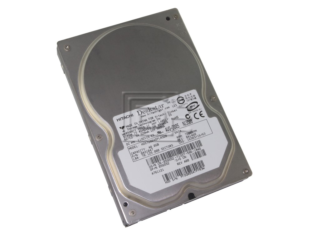 Hitachi 0A31047 HDS728040PLA320 5G552 05G552 SATA Hard Drive image 1