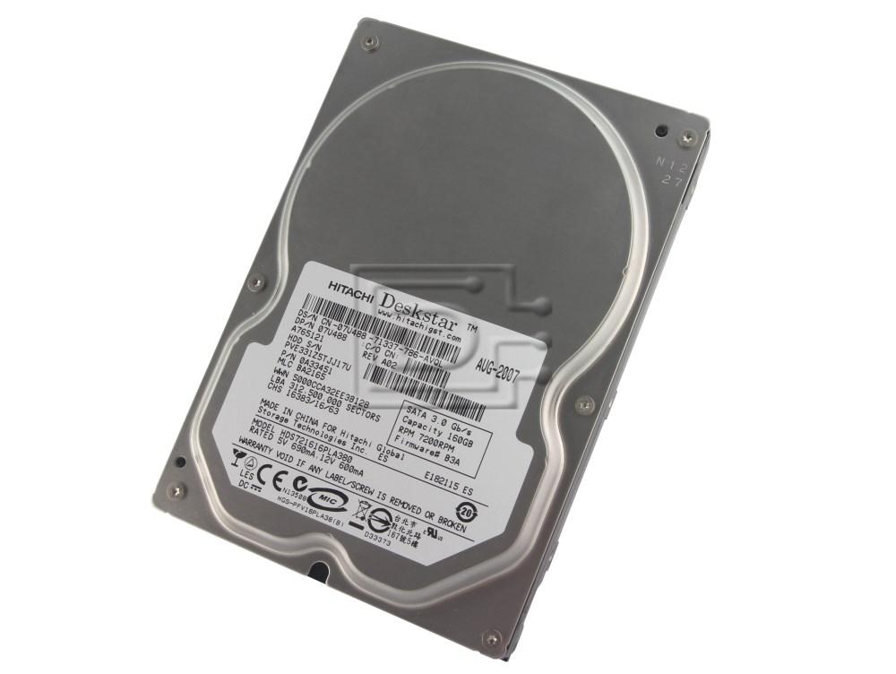 Hitachi 0A33451 HDS721616PLA380 7U488 07U488 SATA Hard Drive image 1