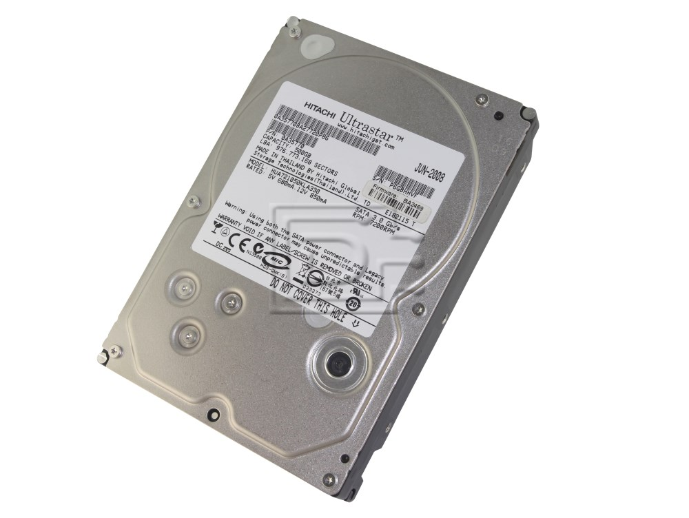 Hitachi UltraStar 500Gb 7200RPM SATA 3.0Gb//s High Speed HDD HUA721050KLA330