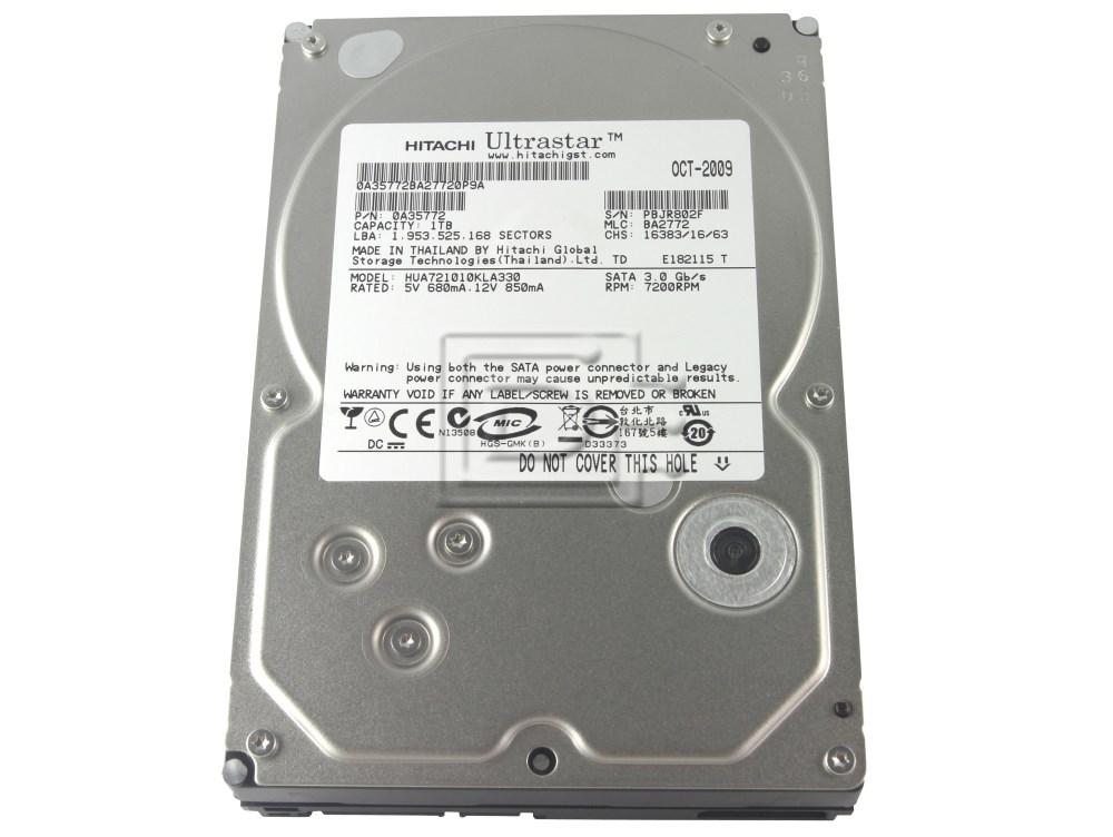 Hitachi 0A35772 0A36073 HUA721010KLA330 SATA Hard Drive image 1