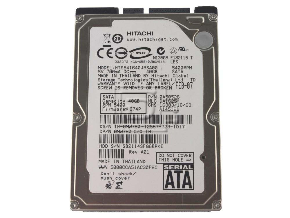 "Hitachi 0A50526 MW780 0MW780 HTS541616J9SA00 SATA 2.5"" Hard Drive Samsung HHM160HI image 1"