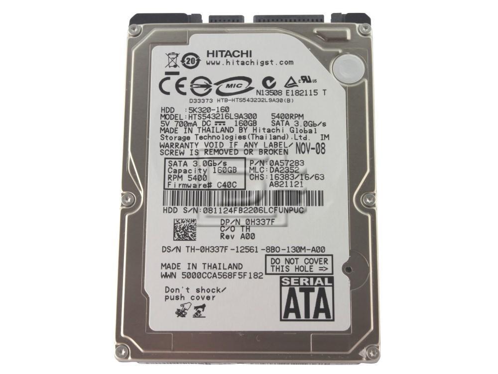 Hitachi Travelstar 5k320 0a57283 160gb Sata Laptop Hard Drive