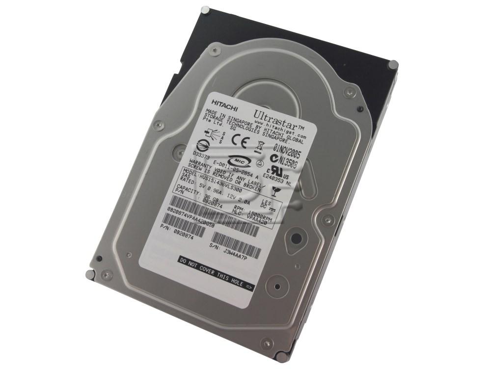 Hitachi 0B20874 HUS151436VLS300 SAS Hard Drives image 1