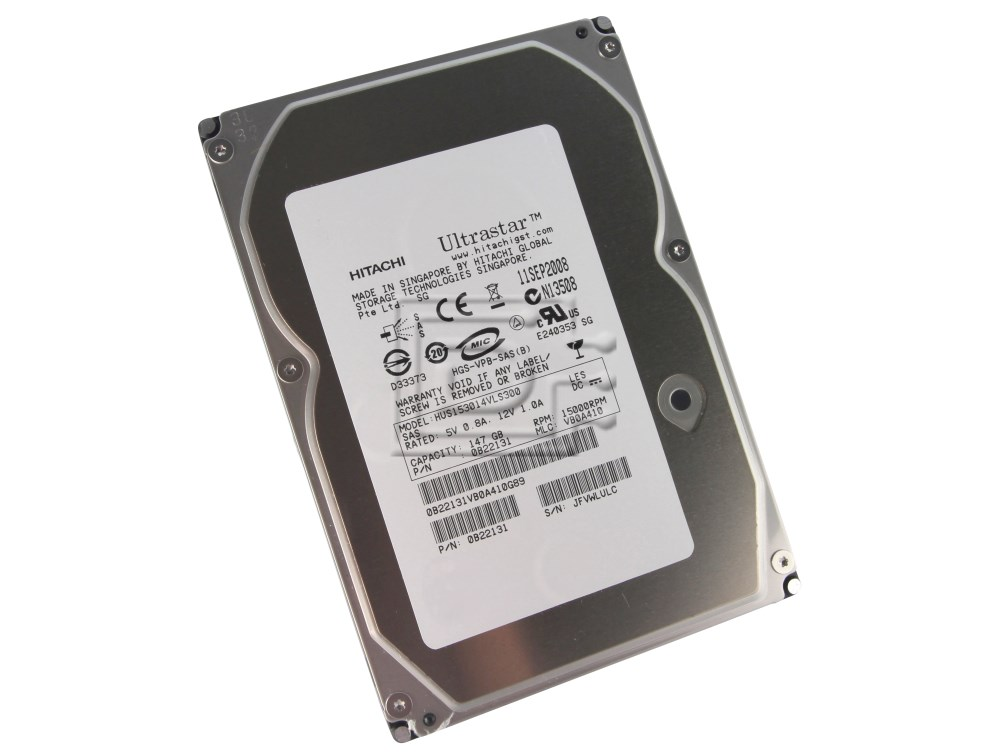 Hitachi 0B22131 HUS153014VLS300 0B22173 0B22178 SAS Hard Drives image 1