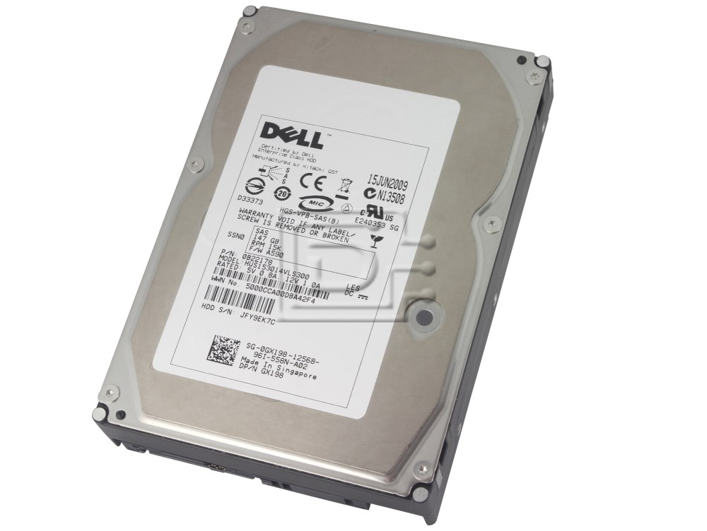 Hitachi 0B22178 HUS153014VLS300 0B22173 GX198 0GX198 SAS Hard Drives image 1