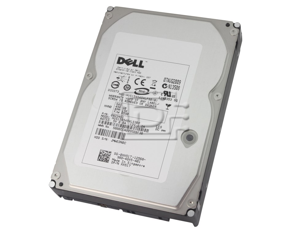 Hitachi 0B22890 0B23461 HUS154545VLS300 0XX517 XX517 SG-0XX517-12568-8BT-21W0-A00 SAS Hard Drives image 1