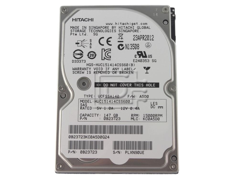 Hitachi 0B23723 HUC151414CSS600 Laptop Hitachi SAS Hard Drive image 1