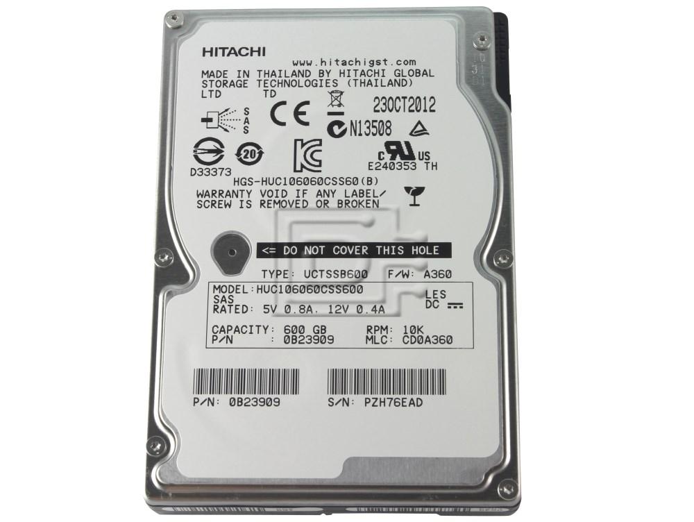 Hitachi 0B23909 HUC106060CSS600 W0B23909 SAS Hard Drive image 1