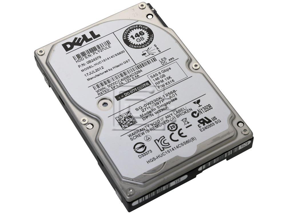 "146GB 2.5/"" SAS 15K 6GB//S 0B24379 HUC151414CSS600 DELL W330K"
