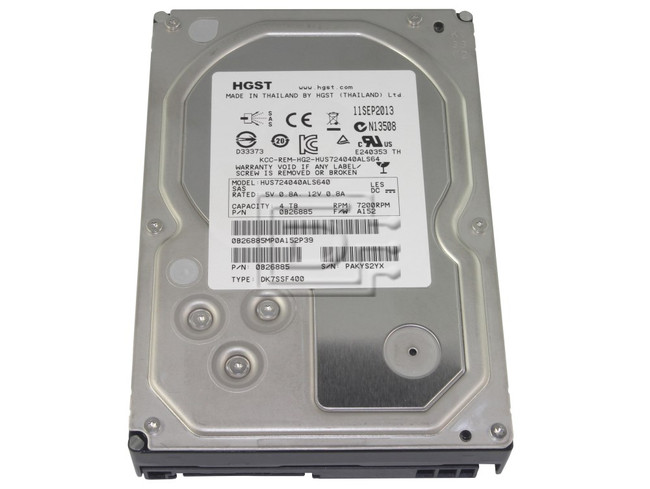 Hitachi 0B26885 HUS724040ALS640 SAS LFF Hard Drive image 1