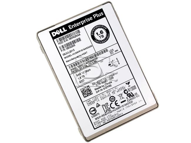 Dell Compellent DGTT2 Hitachi 0B32205 HUSMR1616ASS200 1 6TB 12Gbps 2 5