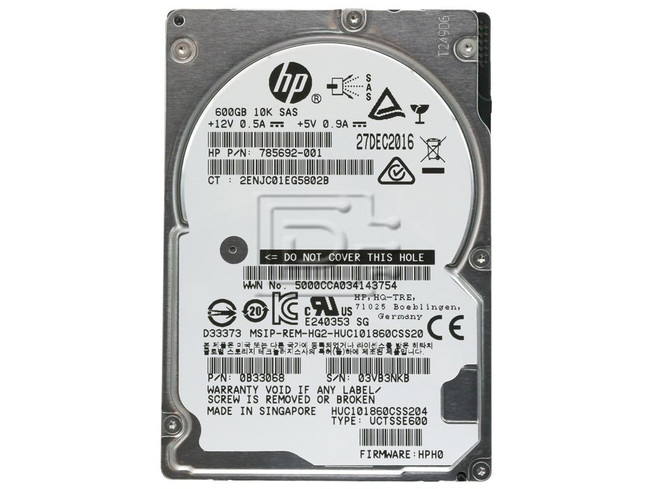 Hitachi 0B33068 HUC101860CSS204 785692-001 SAS Hard Drives image 2