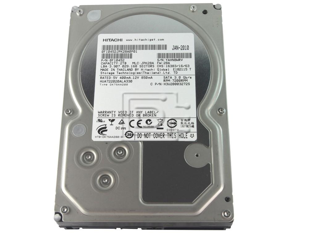Hitachi 0F10452 HUA722020ALA330 SATA Hard Drive image 1