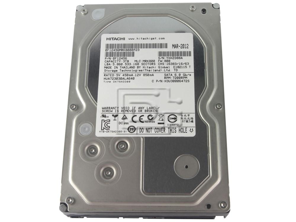 Hitachi 0F12456 HUA723030ALA640 Enterprise SATA Hard Drive 3TB image 1