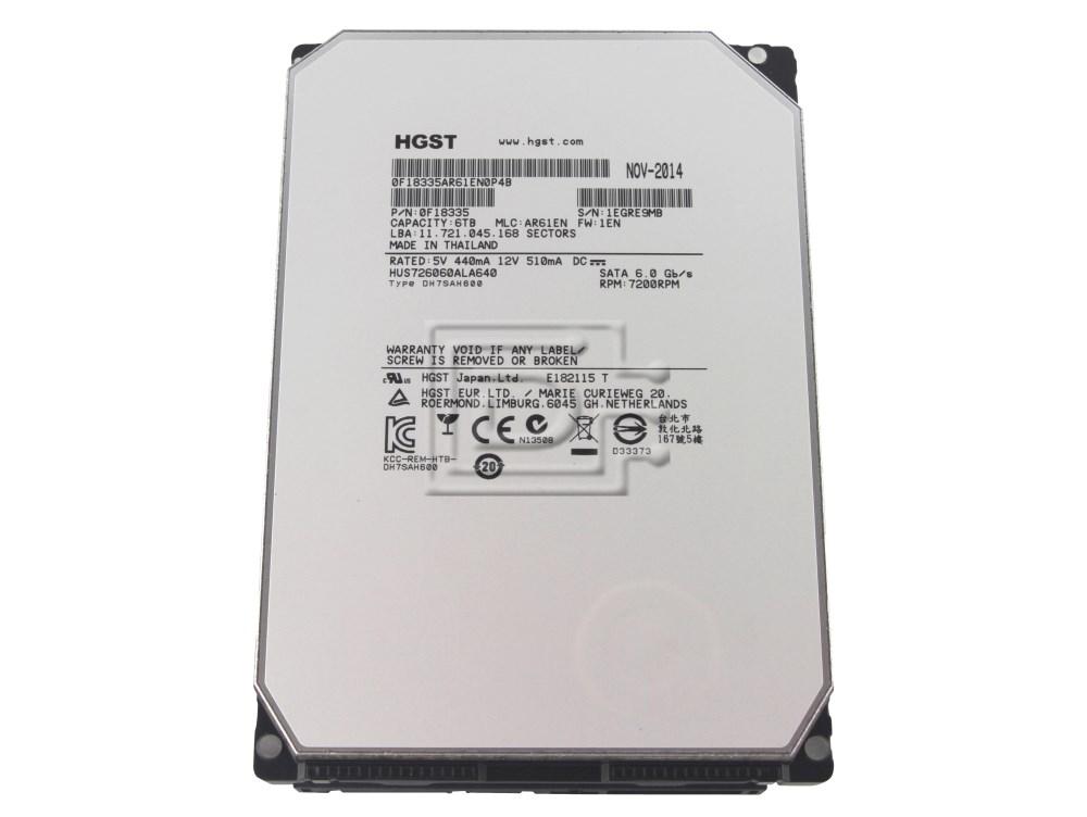 Hitachi 0F18335 HUS726060ALA640 HUS726060ALA641 6TB SATA Hard Drive image 1