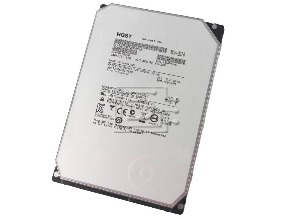 Hitachi 0F18370 HUS726060ALS640 HUS726060ALS641 HUS726060ALS644 6TB SAS Hard Drive image 1
