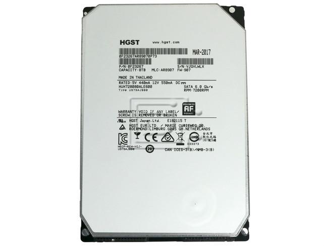 Hitachi 0F23267 HUH728080ALE600 SATA Hard Drive image 2