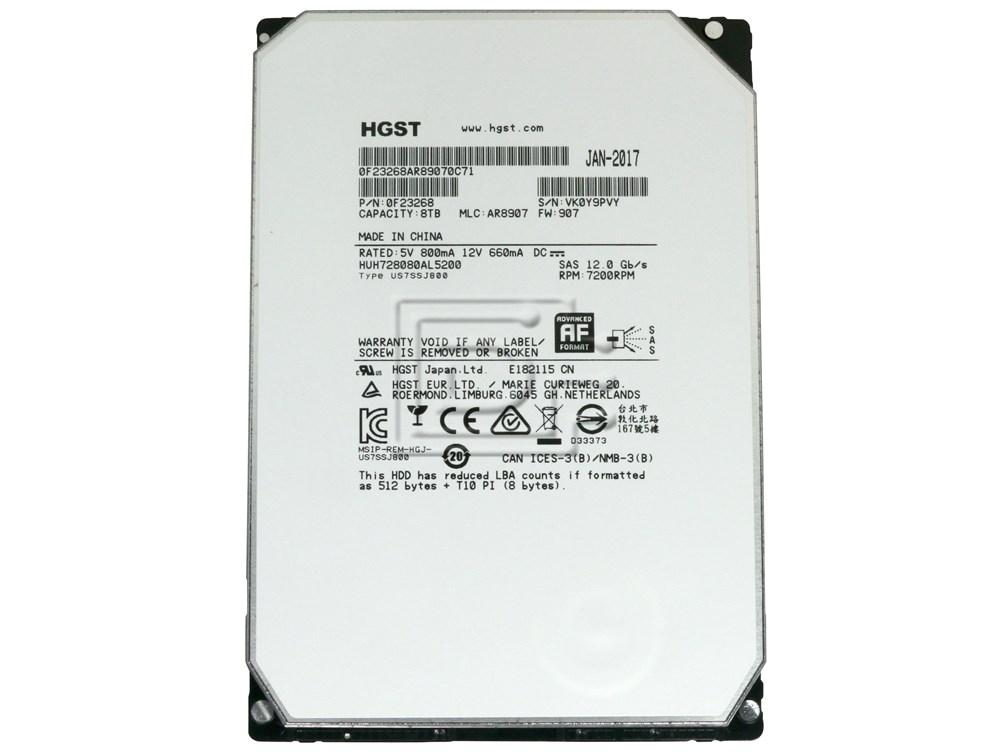 Hitachi 0F23268 HUH728080AL5200 SAS Hard Drive image 2