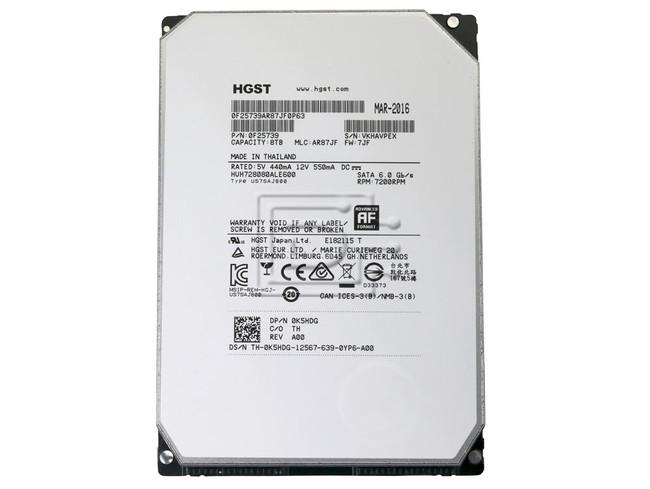 Hitachi 0F25739 HUH728080ALE600 SATA Hard Drive image 2