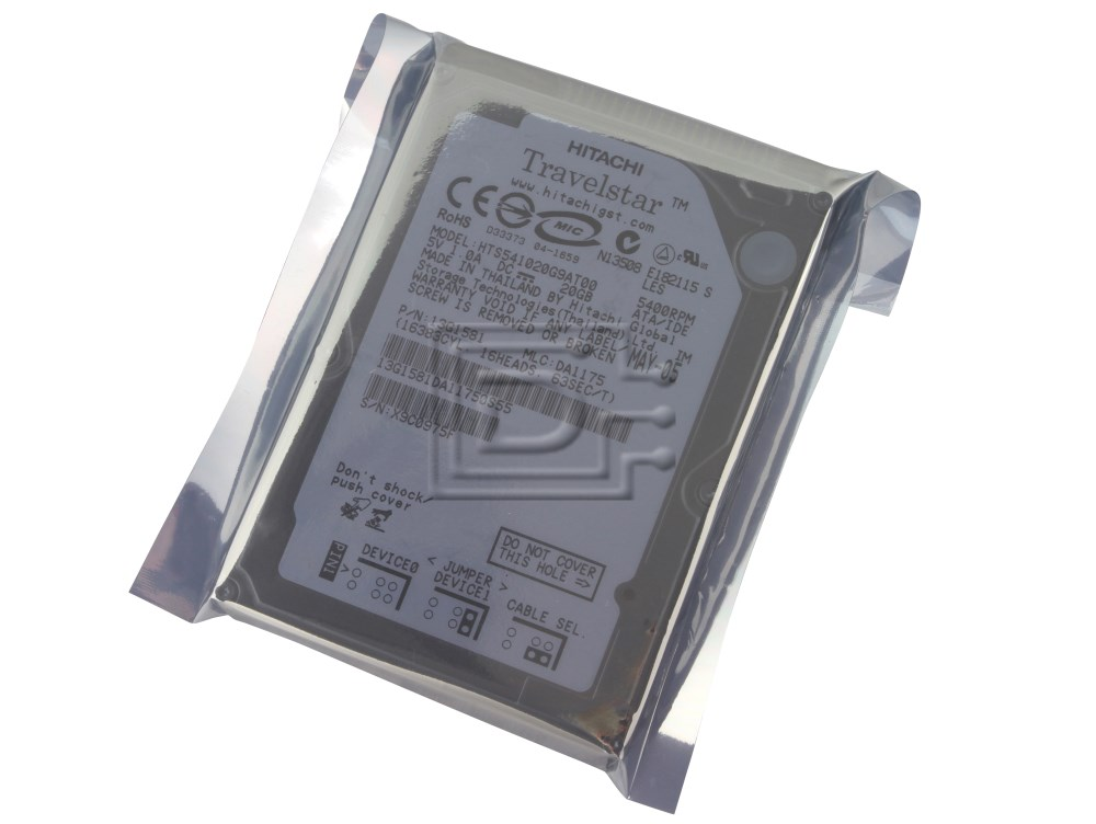 Hitachi 13G1581 HTS541020G9AT00 Laptop IDE ATA100 Hard Drive image 1