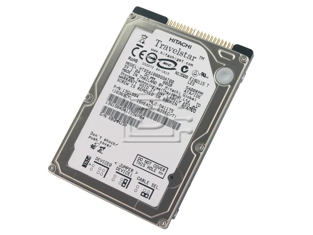 Hitachi 13G1584 HTS541080G9AT00 Laptop IDE ATA100 Hard Drive image 1