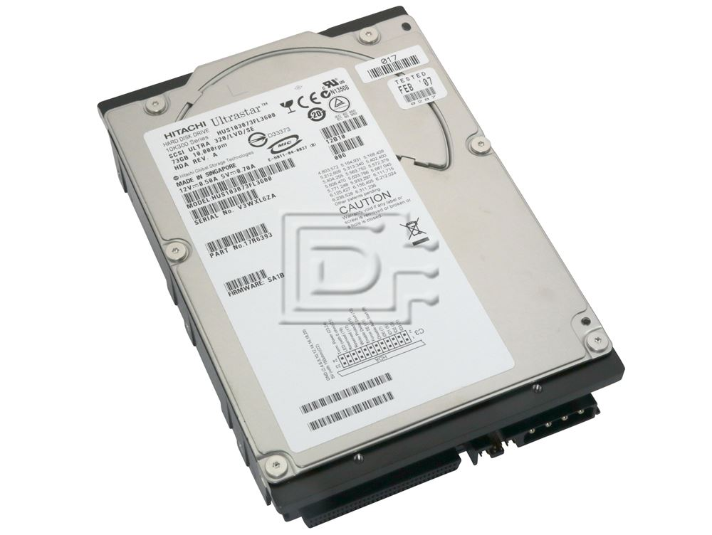 Hitachi 17R6393 HUS103073VL3600 SCSI Hard Drives image 1