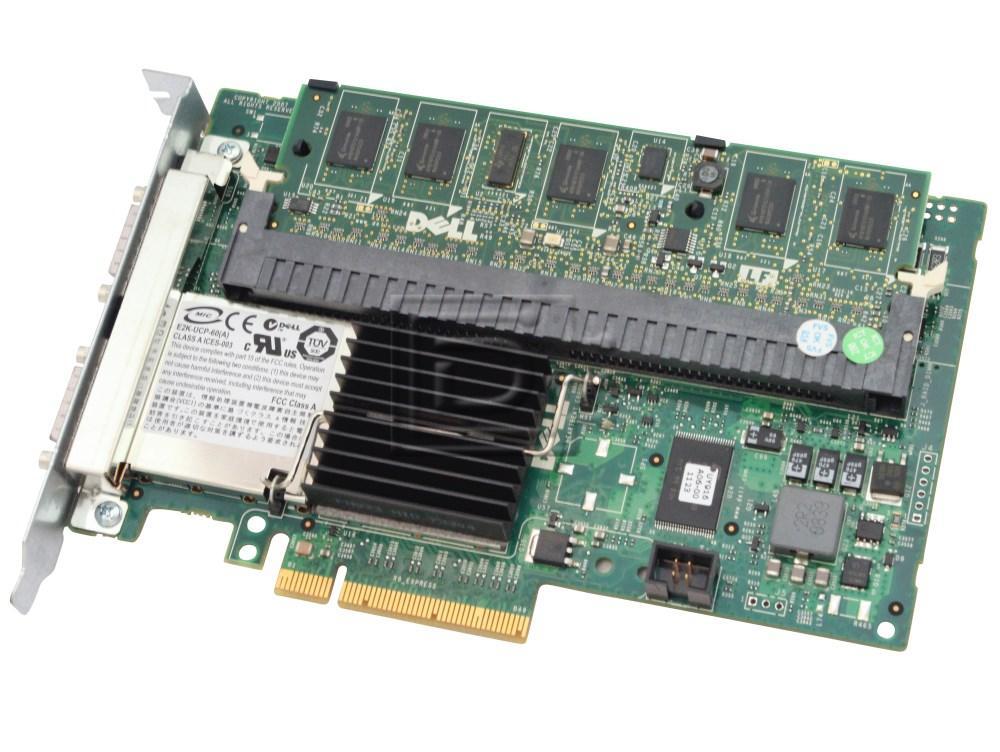 Dell 341-5898 F989F 0F989F CN-0F989F-13740-07D-00AS-A04 PR174 0PR174 SAS / Serial Attached SCSI RAID Controller Card image 1