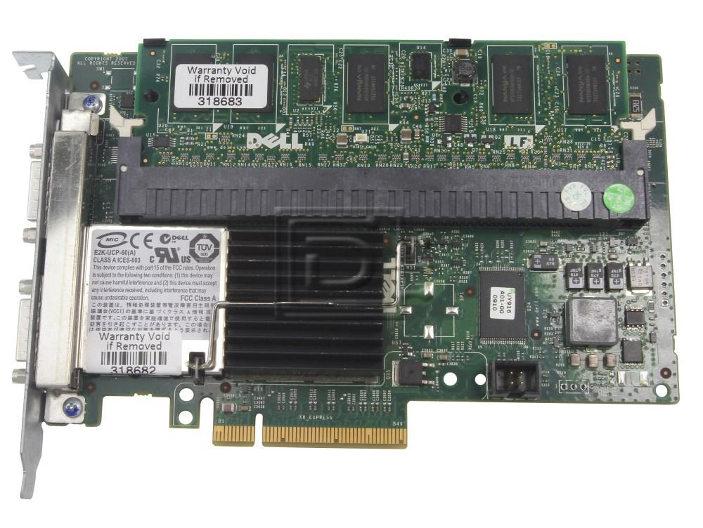 Dell 341-5899 K275F 0K275F MP969 0MP969 0FY374 FY374 PR174 0PR174 FU022 0FU022 0J155F J155F SAS / Serial Attached SCSI RAID Controller Card image 1