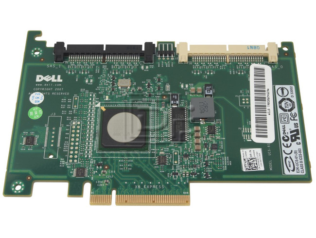 Dell 341-9536 YK838 0YK838 DX481 0DX481 SAS / Serial Attached SCSI RAID Controller Card image 1