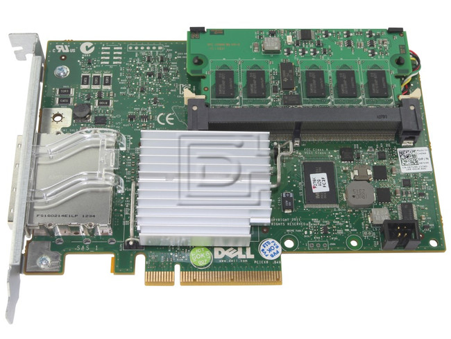 Dell 342-1193 NH118 0NH118 N743J 0N743J 087V49 87V49 D90PG 0D90PG SAS / Serial Attached SCSI RAID Controller Card image 1