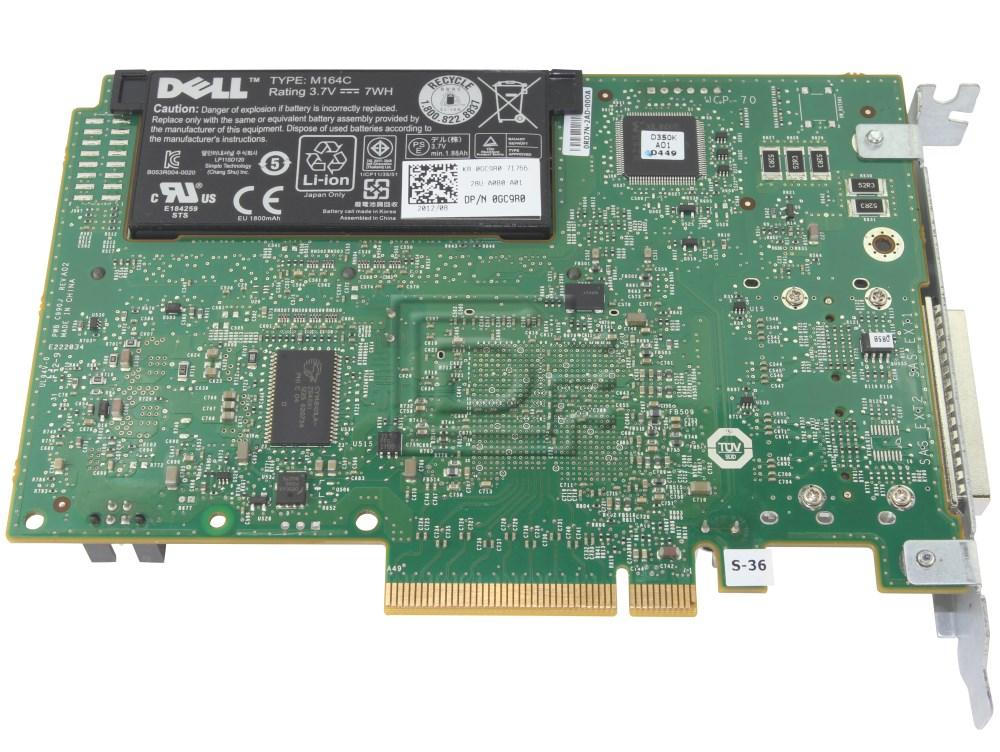 Dell 342-1193 NH118 0NH118 N743J 0N743J 087V49 87V49 D90PG 0D90PG SAS / Serial Attached SCSI RAID Controller Card image 2
