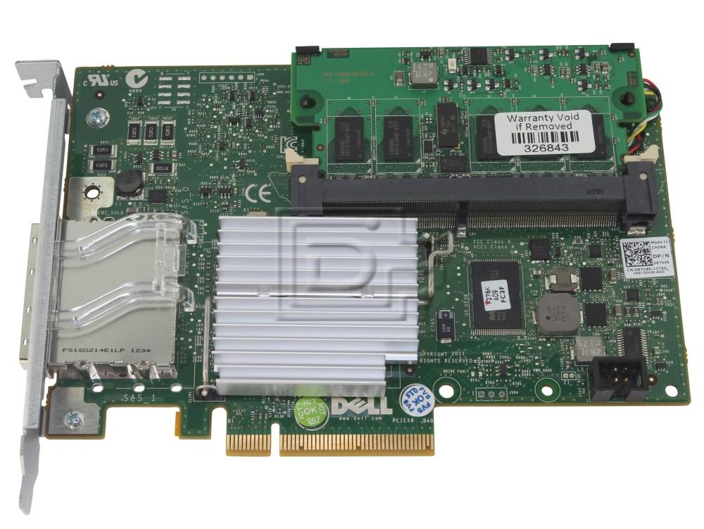 Dell 342-1193 NH118 0NH118 N743J 0N743J 087V49 87V49 D90PG 0D90PG SAS / Serial Attached SCSI RAID Controller Card image 4