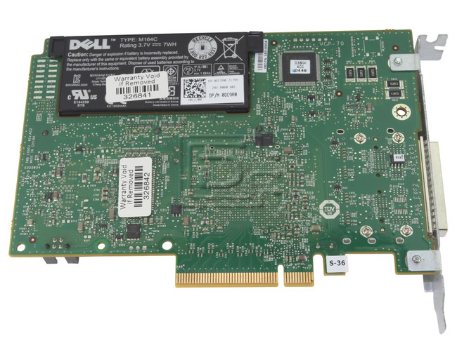 Dell 342-1193 NH118 0NH118 N743J 0N743J 71N7N 071N7N 87V49 087V49 D90PG 0D90PG SAS / Serial Attached SCSI RAID Controller Card image 5