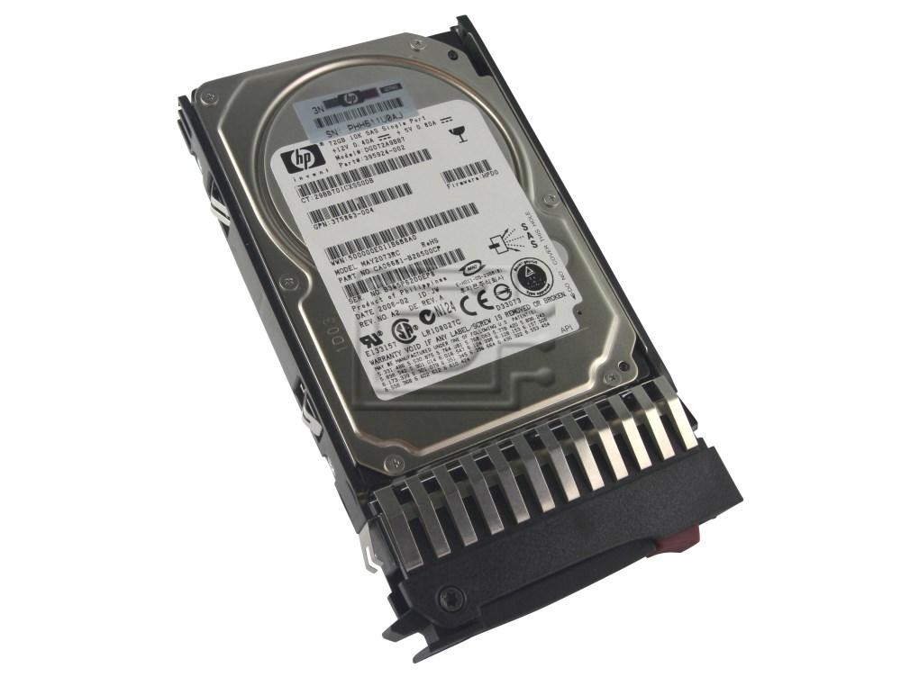 "HP 434916-001 72GB 10K RPM 2.5/"" SAS HARD DRIVE W//TRAY"