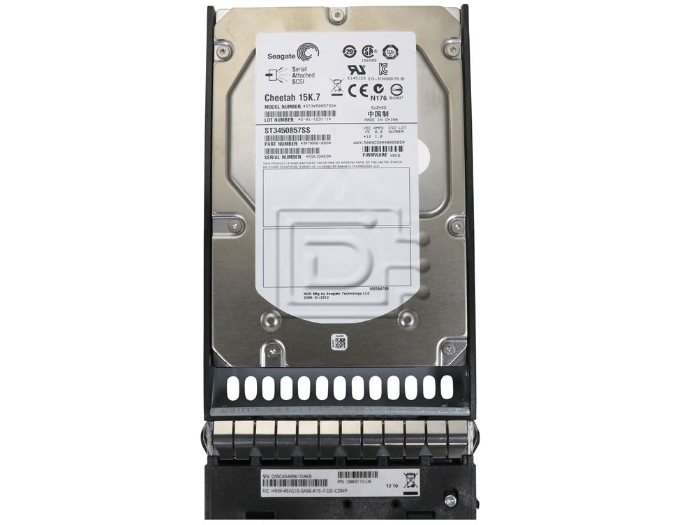 """Dell 03J3K9 450GB 15K RPM SAS 6Gbps 3.5/"""" HDD With Tray"""