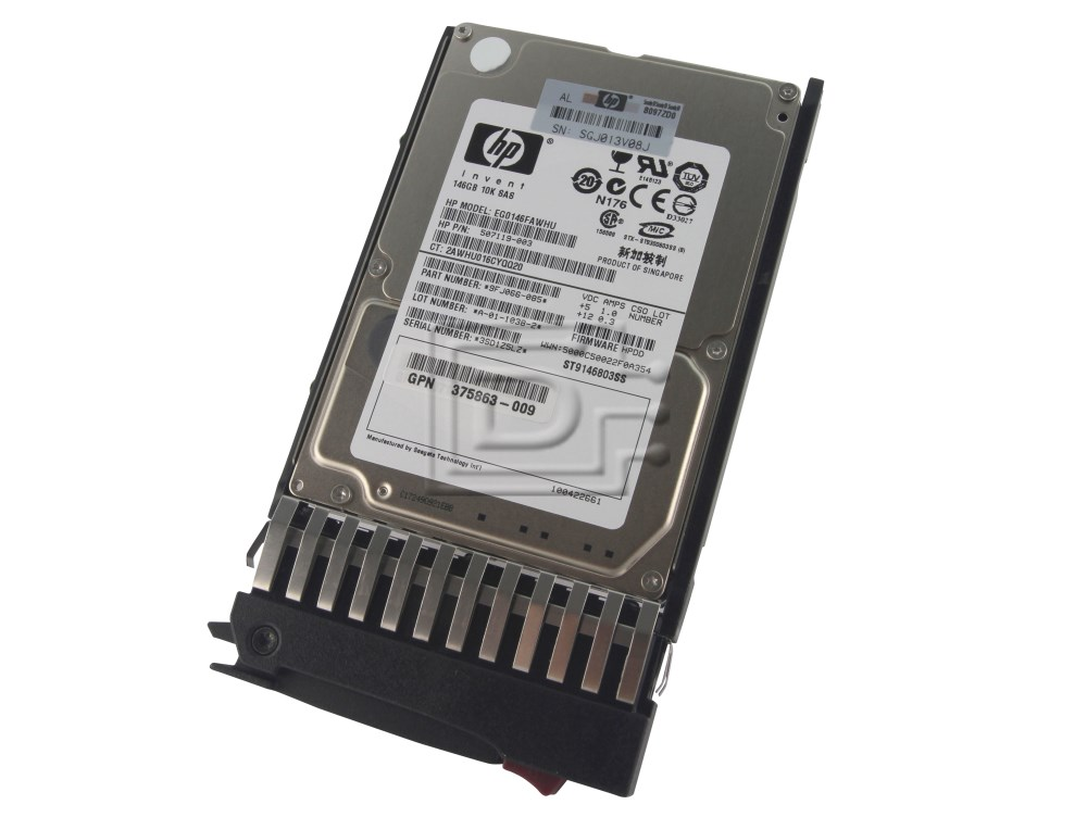 HEWLETT PACKARD 418367-B21 B000VS6TB0 DG146BB976 418399-001 D146BB976 431065-003 DG0146FAMWL 432320-001 HP SAS Hard Drives image 1