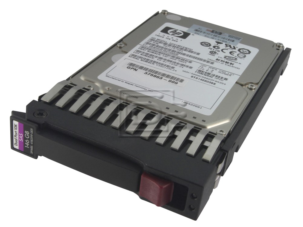 HEWLETT PACKARD 418367-B21 B000VS6TB0 DG146BB976 418399-001 D146BB976 431065-003 DG0146FAMWL 432320-001 HP SAS Hard Drives image 2