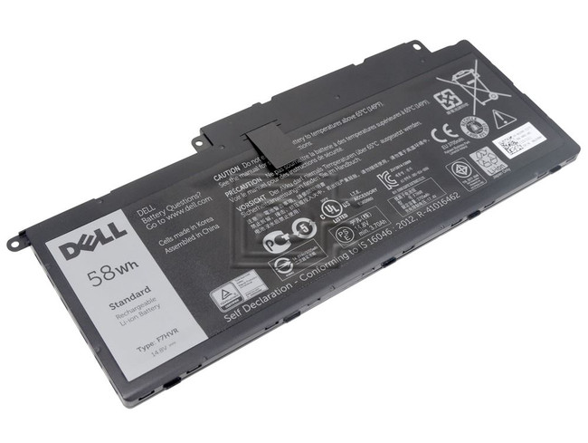 Dell 451-BBEO F7HVR 0F7HVR T2T3J 0T2T3J 451-BBLJ 62VNH 062VNH Inspiron Laptop Battery image 1