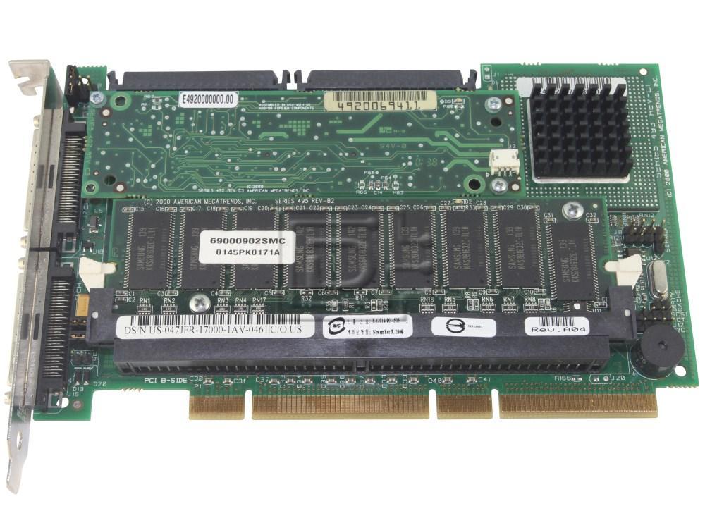 Dell 47JFR SCSI RAID Controller Card image 1