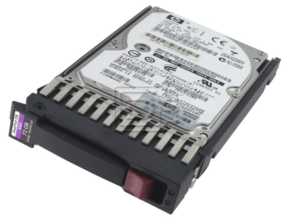HEWLETT PACKARD 512545-B21 512743-001 EH0072FARUA CA07069-B10100CP 507129-008 518216-001 SAS Hard Drives image 2