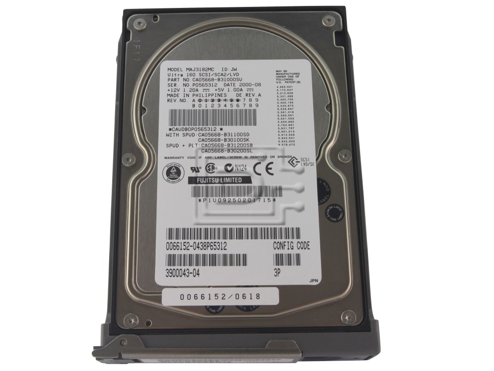 SUN MICROSYSTEMS 540-4177 390-0043 X5237A SCSI hard drive image 1