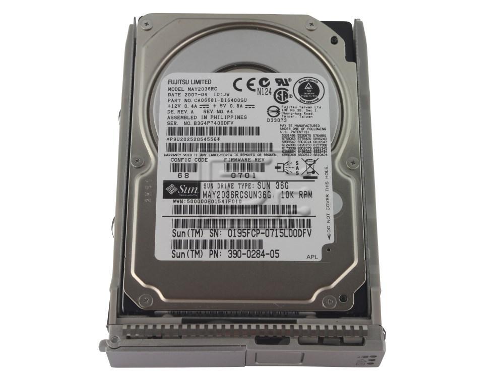 SUN MICROSYSTEMS 540-6610 390-0284 MAY2036RC 390-0284-05 SAS hard drive image 1