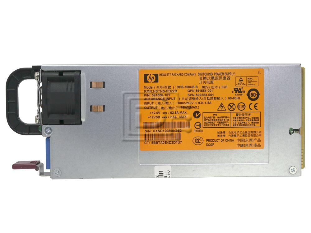 HP HSTNS-PD22B 591556-101 750W CS platinum power supply DPS-750UB B 599383-001