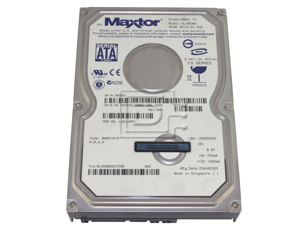 Maxtor 6L080M0 SATA hard drives image 1