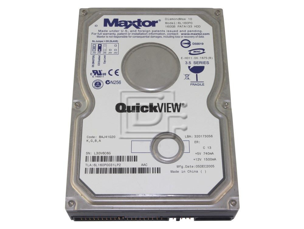 Maxtor 6L160P0 IDE hard drives image 1